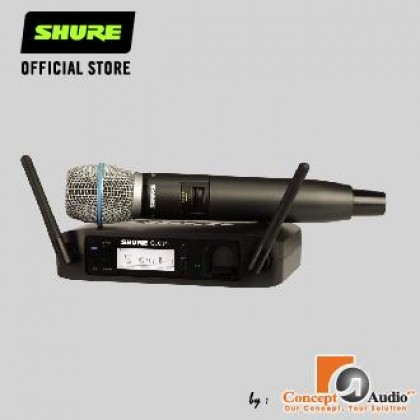 SHURE GLXD24/B87A Digital Wireless Vocal System with Beta 87A Vocal Microphone