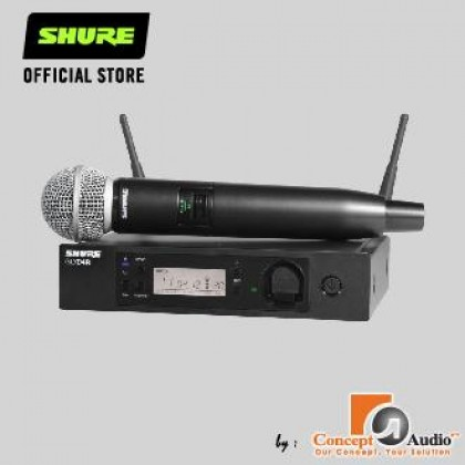SHURE GLXD24R/SM58 GLX-D Advanced Digital Wireless Vocal System with SM58 Vocal Microphone