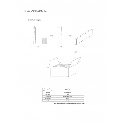 Portable UVC + UVA LED Steriliser